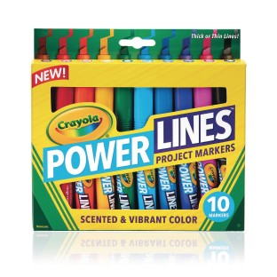 Crayola® Powerlines Washable Scented Markers (Set of 10) - Image 1 of 1