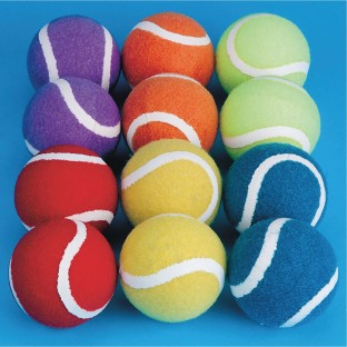 Rainbow Spectrum™ Tennis Balls (Pack of 12) - Image 1 of 1