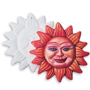 Color Me™ Plaster Aztec Sun Plaque (Pack of 12) - Image 1 of 1