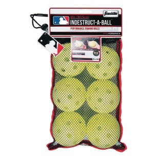 Franklin® Indestruct-A-Ball Plastic Baseball, Optic Yellow - Image 1 of 2