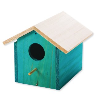 Wooden Birdhouse, Unfinished, Unassembled - Image 1 of 1