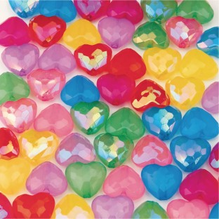 Color Splash!® Faceted Heart Bead Assortment - Image 1 of 2