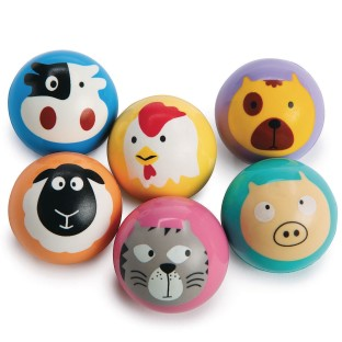 Animal Faces High Bounce Balls (Pack of 12) - Image 1 of 1