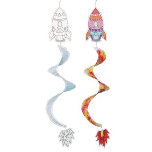 Color-Me™ Rocket Windspinners (Pack of 12) - Image 1 of 1