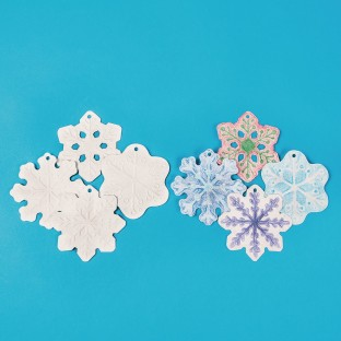 Color-Me™ Embossed Snowflake Ornaments (Pack of 12) - Image 1 of 3
