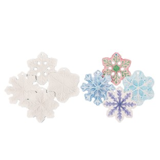 Color-Me™ Embossed Snowflake Ornaments (Pack of 12) - Image 1 of 4