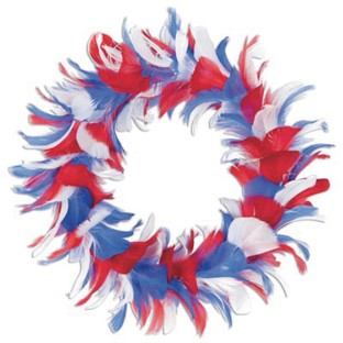 Patriotic Feather Wreath - Image 1 of 1