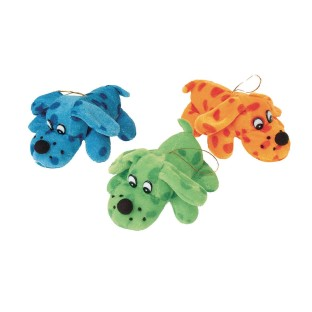 "Plush Polka Dot Dogs, 5"" (Pack of 12) - Image 1 of 1"
