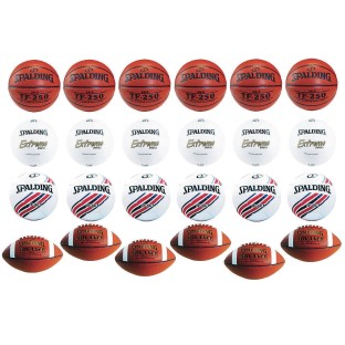 Spalding® 24 Ball 4-Sport Intermediate Game Ball Easy Pack - Image 1 of 1