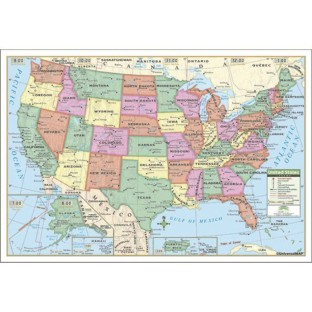 USA Map (Laminated) - Image 1 of 1