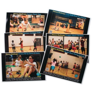 PE Central Cooperative Fitness Challenge Poster Set (Set of 6) - Image 1 of 2