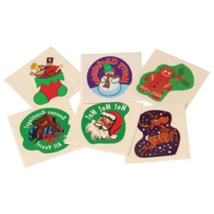 Christmas Tattoos (Pack of 144) - Image 1 of 1