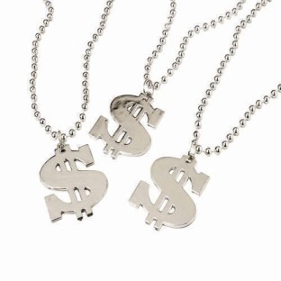 Dollar Sign Necklace (Pack of 12) - Image 1 of 1