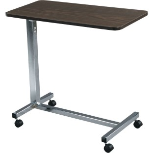 Non Tilt Top Overbed Table With Silver Vein Base   Image 1 Of 1