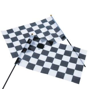 Black and White Checkered Racing Flags (Pack of 12) - Image 1 of 1