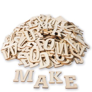 "3"" Wood Craft Letters (Pack of 300) - Image 1 of 2"
