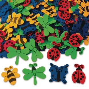 Color Splash!® Foam Shapes w/ Adhesive – Bugs and Butterflies - Image 1 of 1