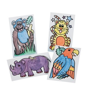Paint-a-Dot™ Jungle Animals Craft Kit (Pack of 48) - Image 1 of 2