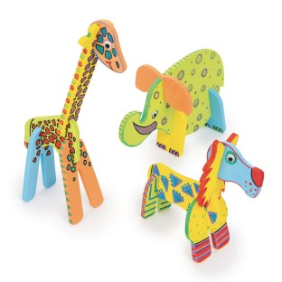Wacky Foam Animals Craft Kit (Pack of 24) - Image 1 of 3