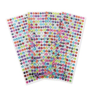Color Splash!® Round Adhesive Gem Assortment (Pack of 880) - Image 1 of 1
