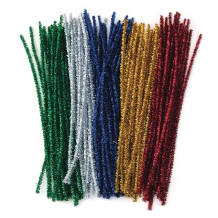 Color Splash!® Sparkle Chenille Stem Assortment (Pack of 100) - Image 1 of 3