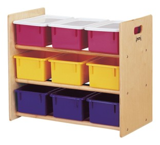 9-Tray Storage Rack with Color Trays - Image 1 of 1