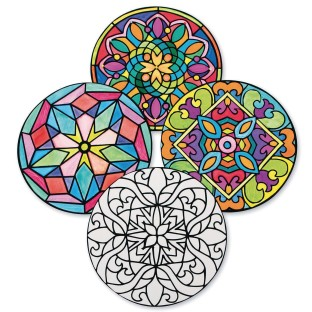 Velvet Art Mandalas (Pack of 40) - Image 1 of 1
