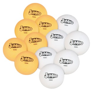 Jumbo Table Tennis Balls (Pack of 12) - Image 1 of 1