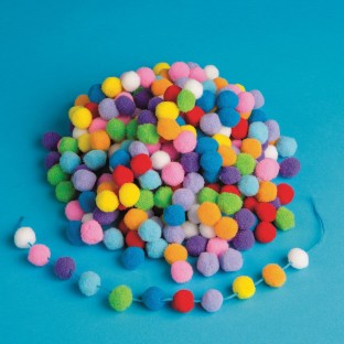 Color Splash!® Dense Pom Pom Assortment (Bag of 1000) - Image 1 of 1