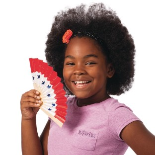 Color-Me™ Paper Fans (Pack of 24) - Image 1 of 4