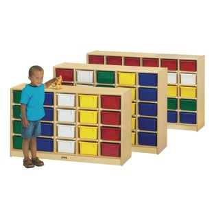 25-Tray Cubbie with Color Trays - Image 1 of 1