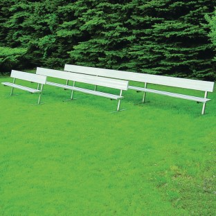 Bench with Back, 15' Portable - Image 1 of 1