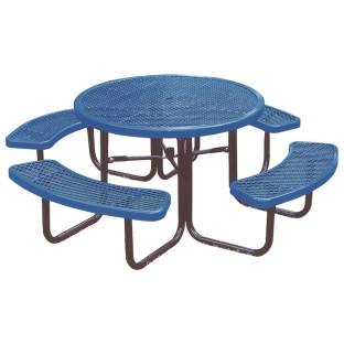 "46"" Round Picnic Table - Image 1 of 2"