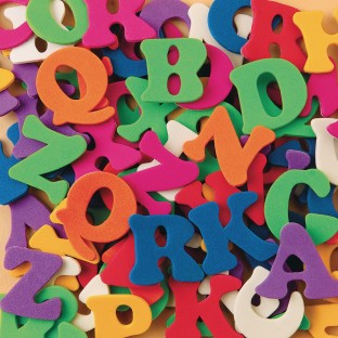 Color Splash!® Foam Shapes with Adhesive - ABCs - Image 1 of 1