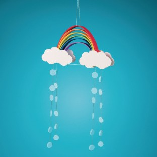 Foam Rainbow Mobiles Craft Kit - Image 1 of 2