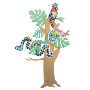 Paint-a-Dot™ Rainforest Animals Craft Kit - Image 1 of 3