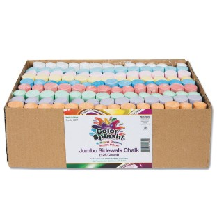 Color Splash!® Giant Box of Sidewalk Chalk (Box of 126) - Image 1 of 6