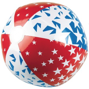 "American Stars Beach Ball, 24"" - Image 1 of 2"