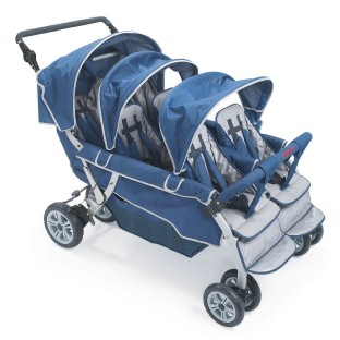 Angeles® 6-Passenger SureStop™ Folding Commercial Bye-Bye® Stroller - Image 1 of 1