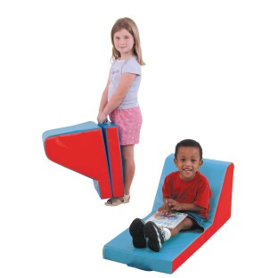 Cozy Time Lounger, Red/Blue - Image 1 of 1