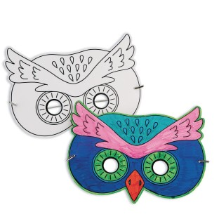 Owl Half Mask (Pack of 24) - Image 1 of 1