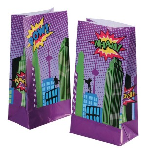 Super Hero Treat and Goodie Bags (Pack of 12) - Image 1 of 1