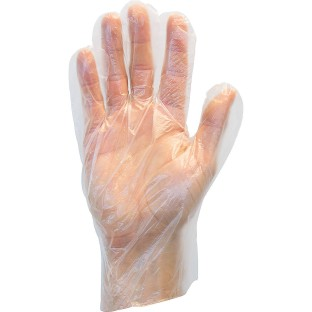 Disposable Plastic Gloves (Box of 100) - Image 1 of 2