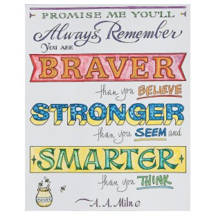 Paint-a-Dot™ Braver...Stronger Poster Craft Kit (Pack of 12) - Image 1 of 3