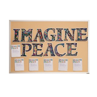 Imagine Peace Collaborative Velvet Craft Kit - Image 1 of 5