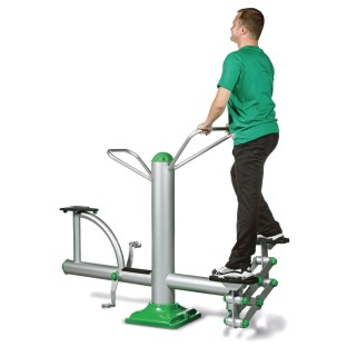 Combo Stepper and Bike Outdoor Exercise Station - Image 1 of 3