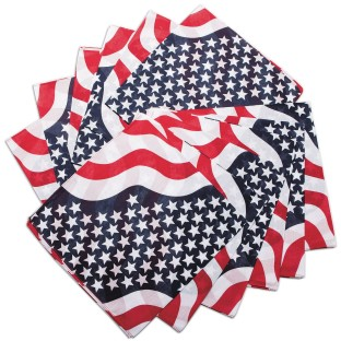 Bandanas - Patriotic Colors (Pack of 12) - Image 1 of 2