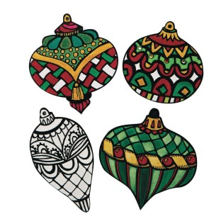 Velvet Art Ornaments (Pack of 24) - Image 1 of 2