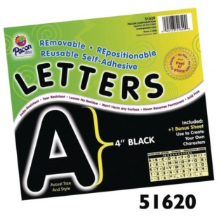 Bulletin Board Letters, Black (Pack of 78) - Image 1 of 3