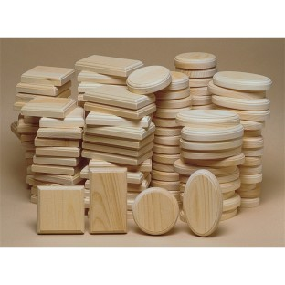 Unfinished 48-Piece Large Plaque Assortment (Pack of 48) - Image 1 of 1